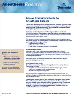 career anesthesia resources